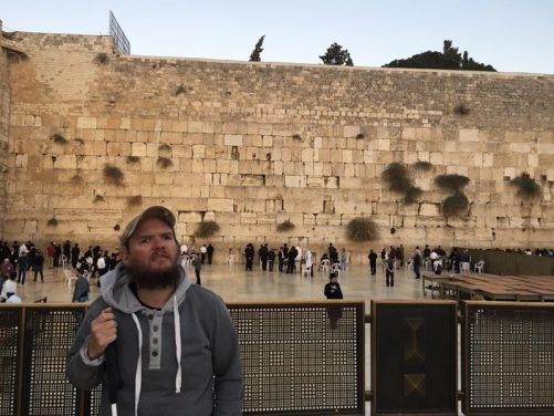 Tony at the Western Wall (Wailing Wall).