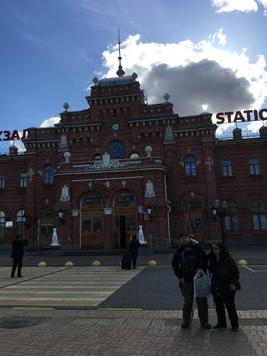 Another view of Kazan Railway station.
