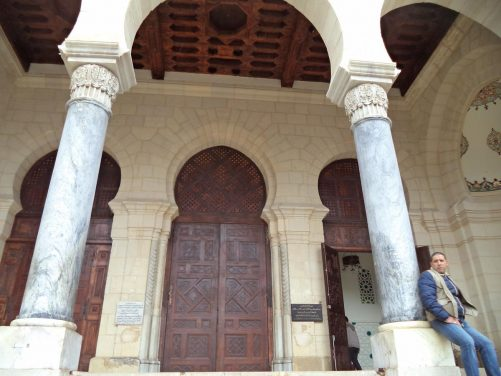 Entrance to Ketchaoua Mosque, which was built during Ottoman rule in the 17th century.
