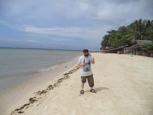Tony on White Beach.