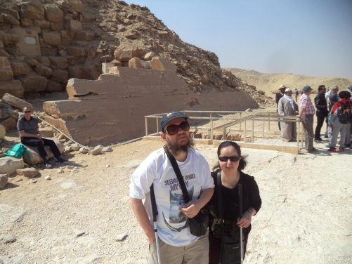 Another view outside Unas Pyramid.