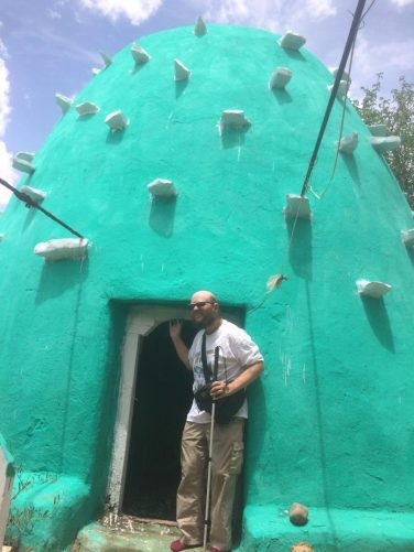 Tony outside the green dome-shaped Tomb of Emir Nur, 41st King of Harar. Emir Nur built the city walls in 1551.