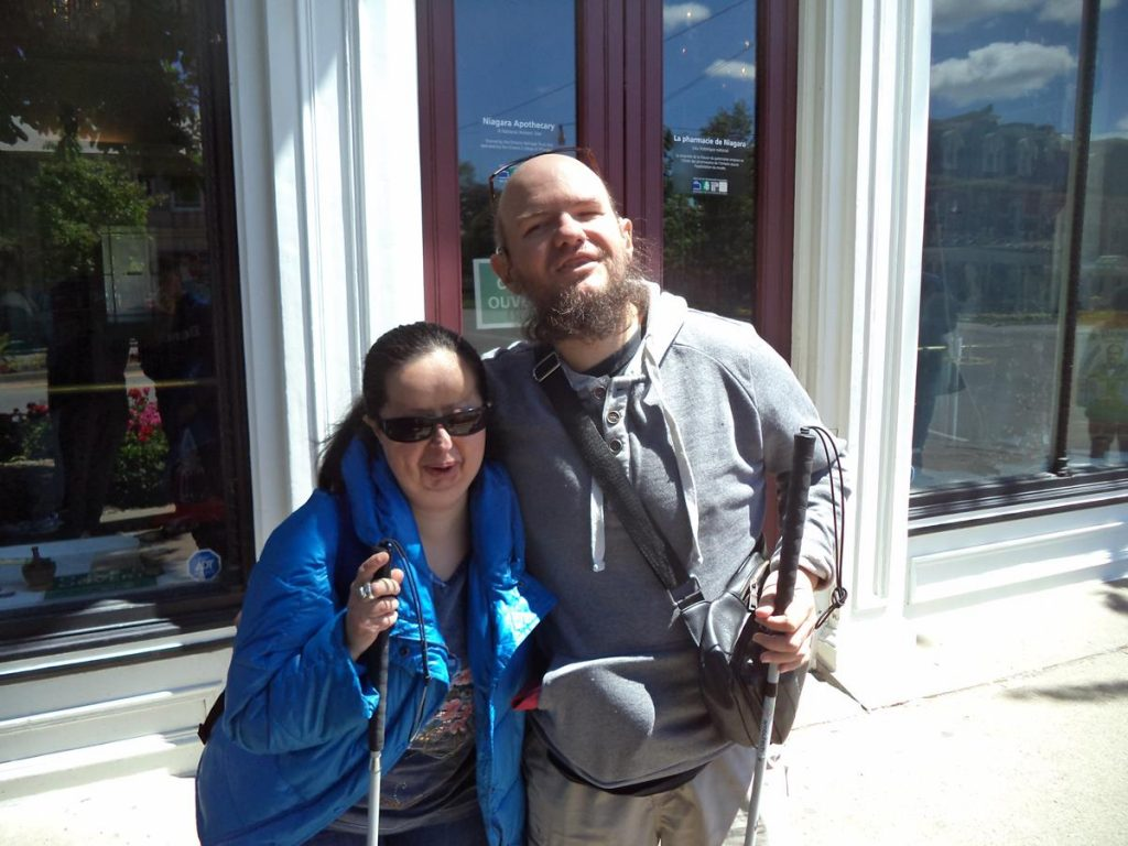 Tatiana and Tony outside another shop in Niagara-on-the-Water.