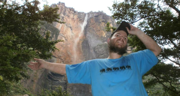 Tony at Angel Falls, the world's highest waterfall, Venezuela, November 2012.