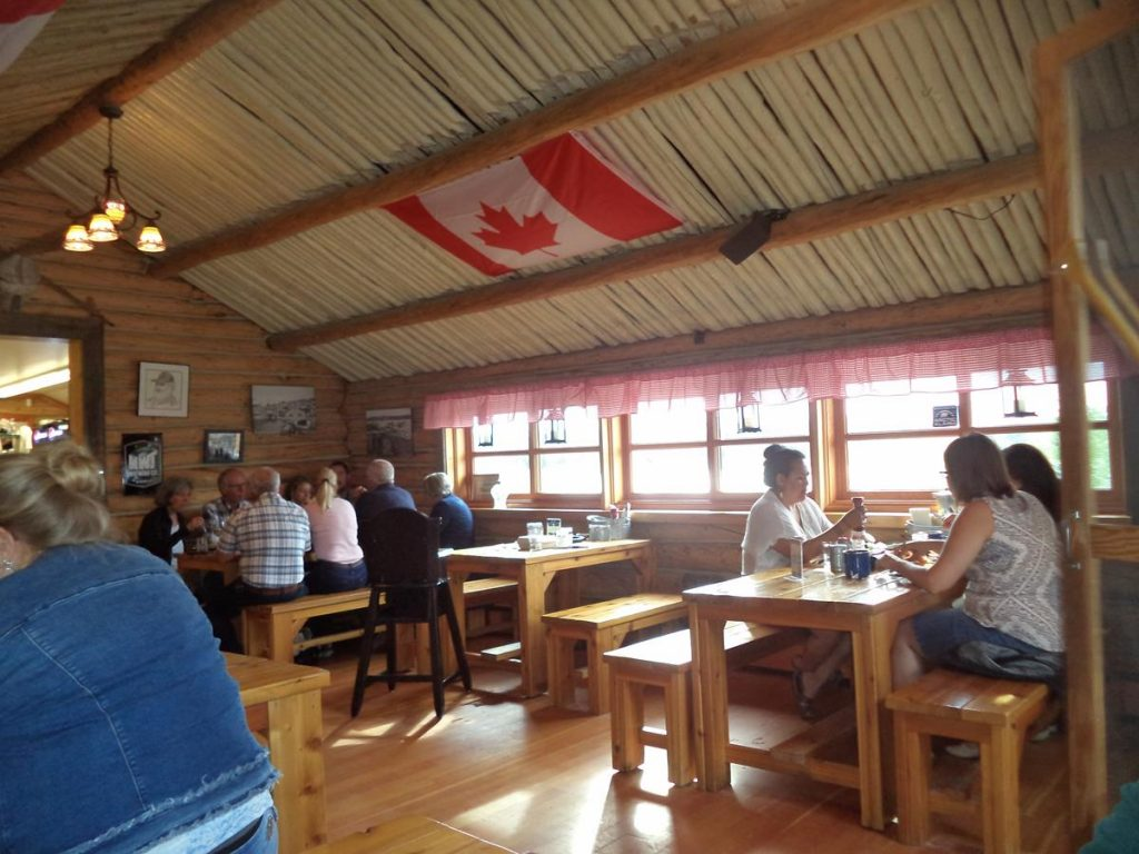 Inside the Wildcat Café. A well-known restaurant in downtown Yellowknife. A rustic, log cabin style building and one of Yellowknife's oldest establishments.