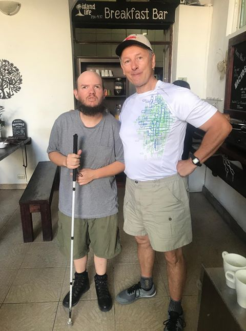 Tony and a Canadian guy, Linald. Taken at Living Backpackers, Zona Colonial, Santo Domingo on 6th November 2019.