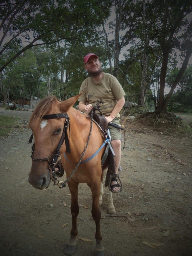 Another view of Tony on the horse.