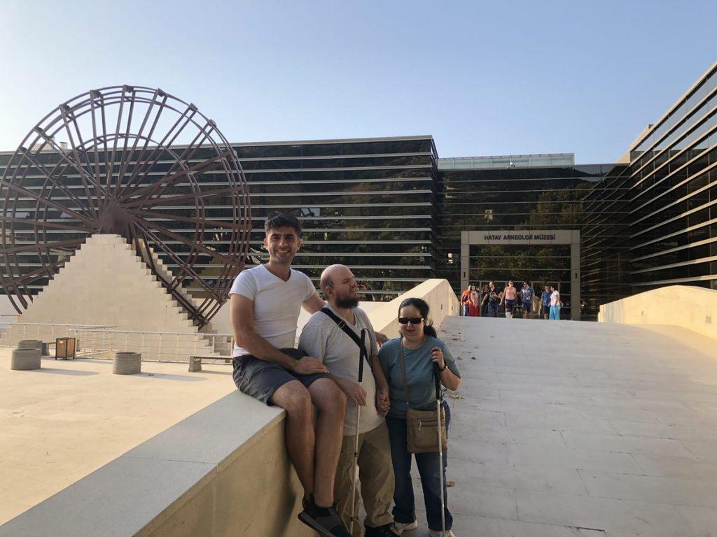 Tony, Tatiana and Sam outside Hatay Archaeology Museum.