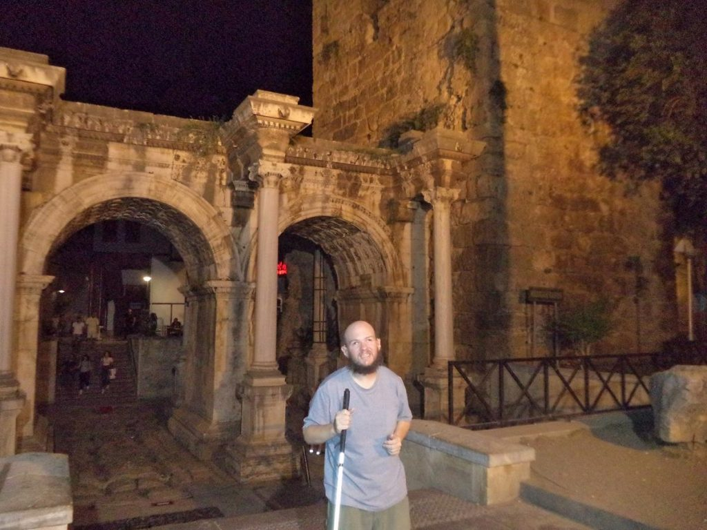 Tony in front of Hadrian's Gate