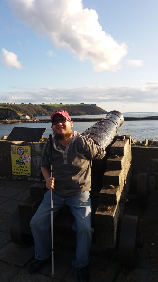 An old cannon on Madera Road overlooking Sutton Harbour. Tony sat in the foreground. According to a plaque alongside, this is one of a pair of cannons dating from the 19th century, which might have seen action during the Crimean War, or one of the many other naval expeditions undertaken during that period.