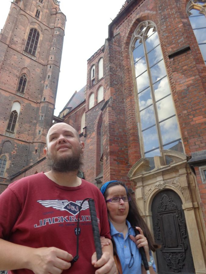 Another shot of Tony and Tatiana outside St. Elizabeth's Church, which is located at the north-west corner of Market Square.