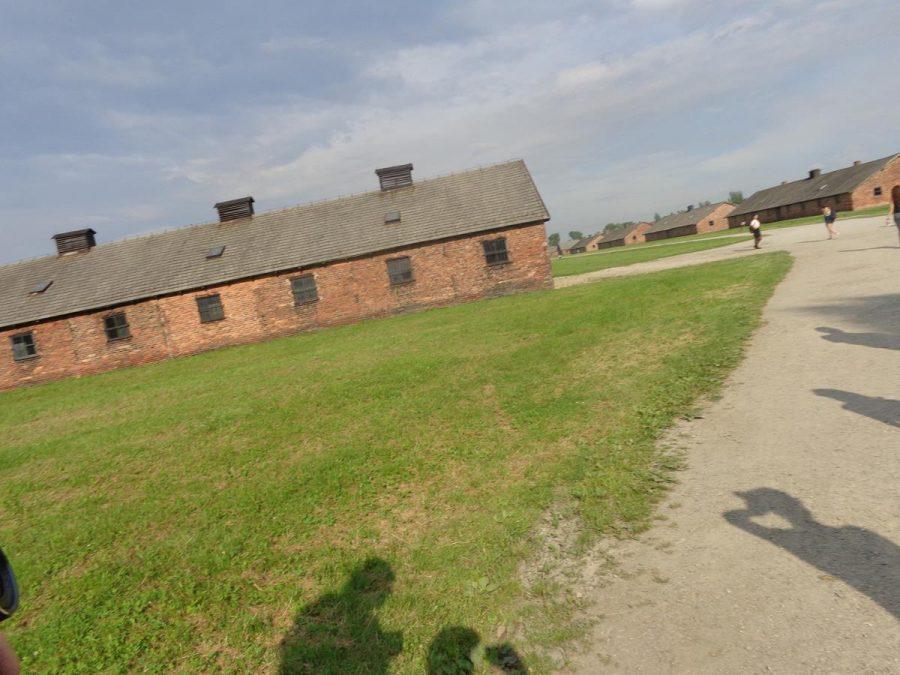 Single storey brick barracks at Auschwitz II-Birkenau. These were part of the Women's Camp.