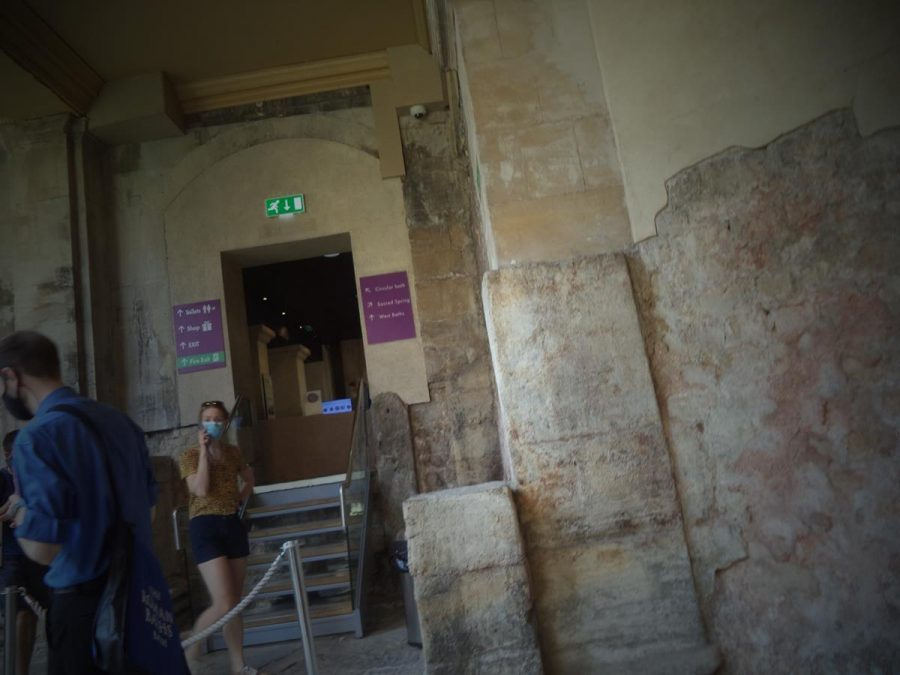 A doorway leading from the Great Bath to the museum and other site facilities.